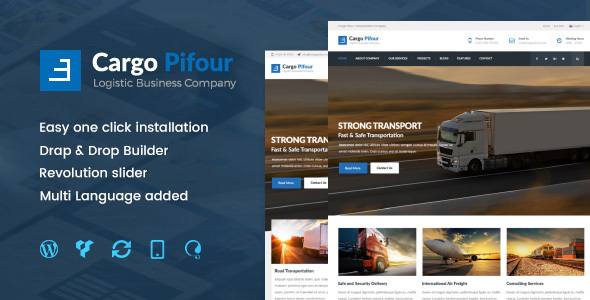 Pifour - Logistic and Transportation WordPress Theme